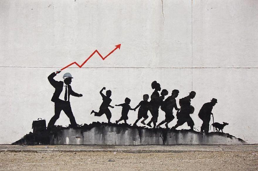 Banksy Stock Market Guy Painting